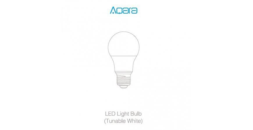 Aqara LED Light Bulb (Tunable White) prvé spustenie