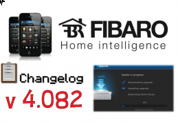FIBARO HC2 V 4.082 BETA CHANGELOG