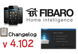 FIBARO HC2 V 4.102 BETA CHANGELOG