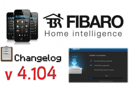 FIBARO HC2 V 4.104 BETA CHANGELOG