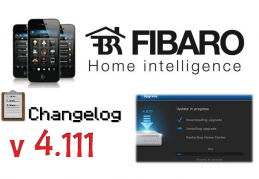 FIBARO HC2 V 4.111 BETA CHANGELOG