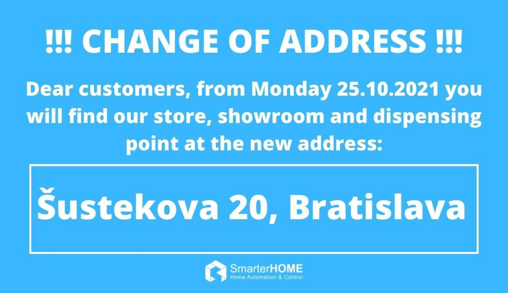 Change of address !!!