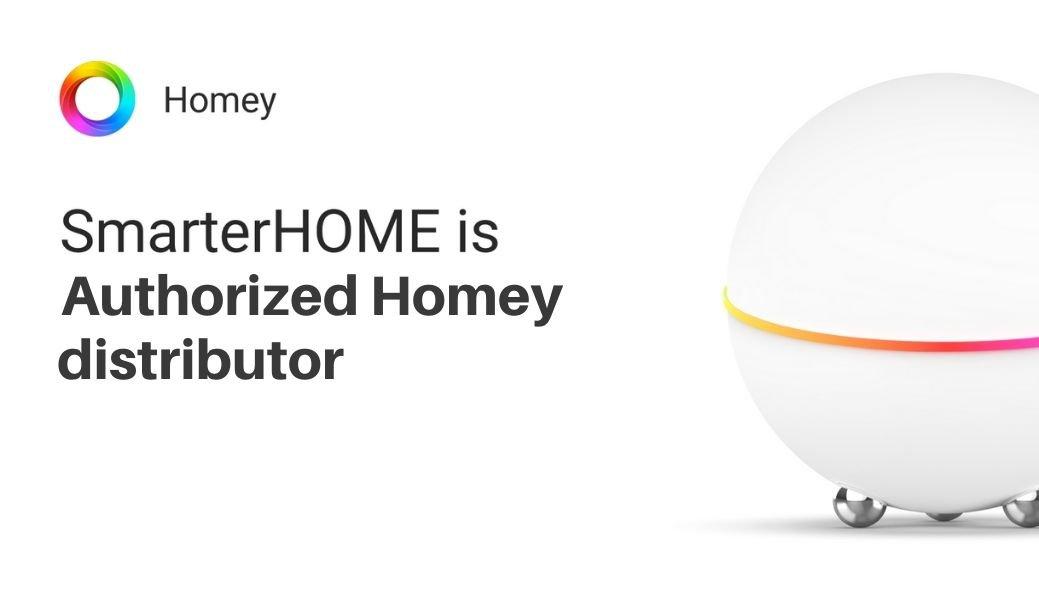 SmarterHOME is Authorized Homey Distributor