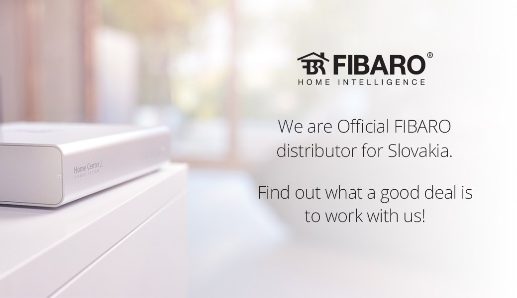 SmarterHOME is the official distributor of FIBARO for Slovakia